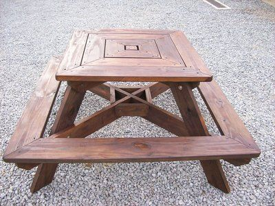 Square picnic table 4 sided adult table approx 60 x 60 at square picnic table 4 sided adult table approx 60 x 60 at widest point height is 32 table top and 17 seat top the top measures 3 feet x 3 watchthetrailerfo