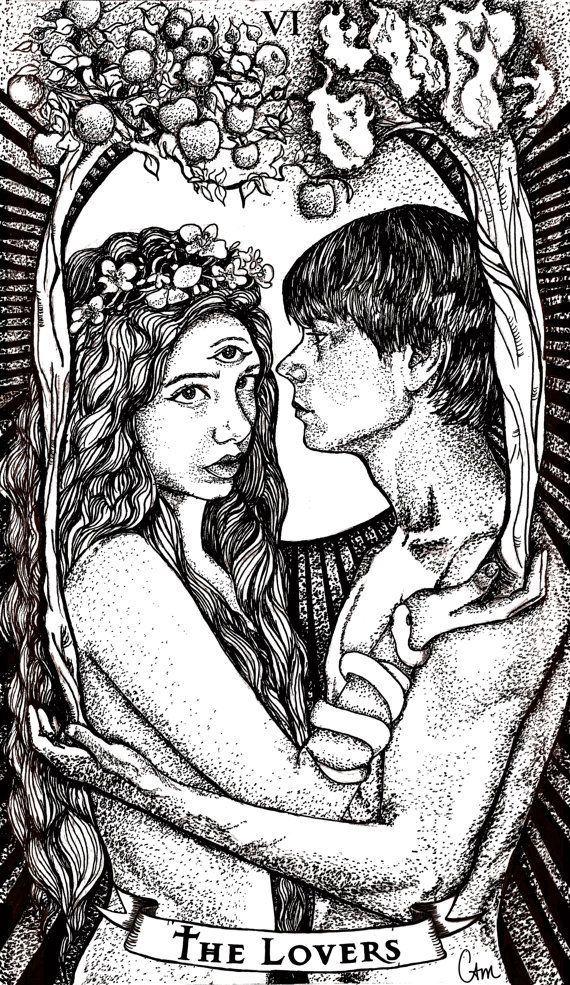 The Lovers Tarot Card By Chelsea Monico On Behance