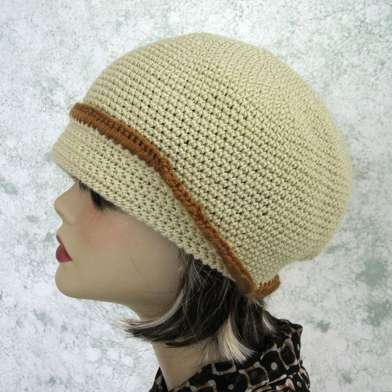 Crochet Hat Pattern Womens Flapper Style With Petal And Button ...