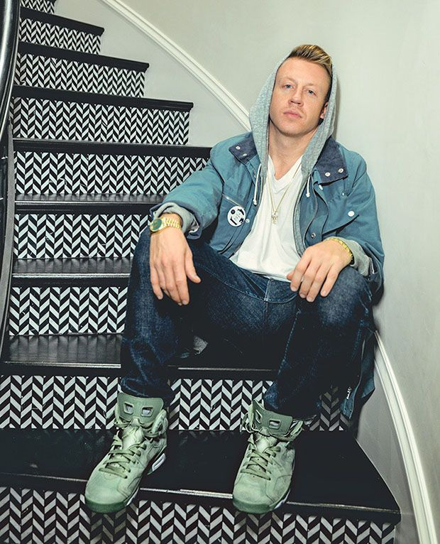 8ca5bbeb8f02 Macklemore in his Air Jordan 6