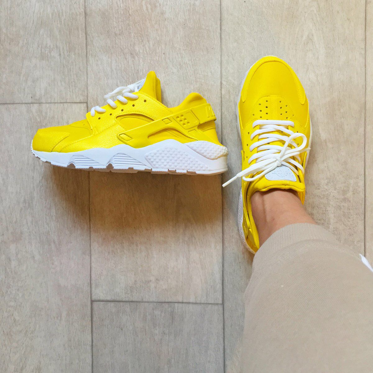 LEMON ZEST Nike Huarache customs by Kylie Boon   jklcustoms ... 8d1da5d5f