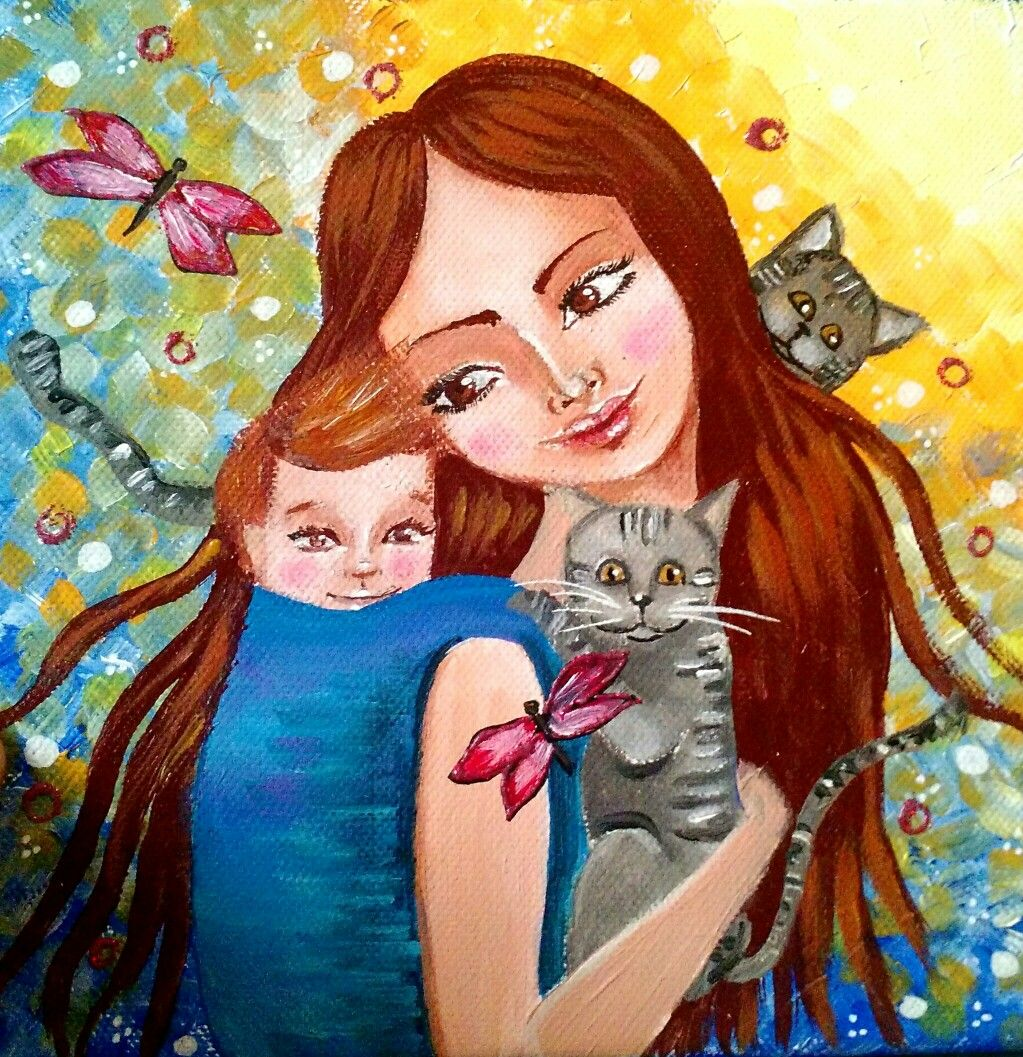 Acrilico su tela 20x20 Facebook La RagnaTela Art