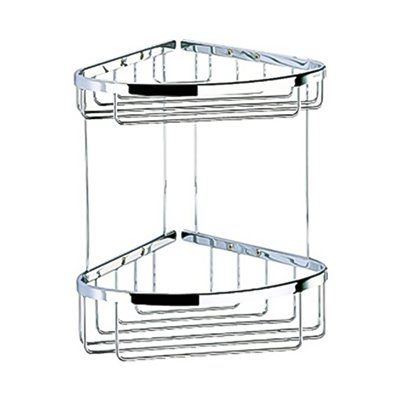 Nameek s Inc  Geesa 183 Basket Large Double Corner Basket Shower Caddy   Chrome. Nameeks Geesa 183 Basket Large Double Corner Basket Shower Caddy