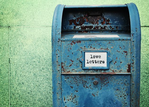 Blue Love Letters  Writing Objects    Mail Boxes You