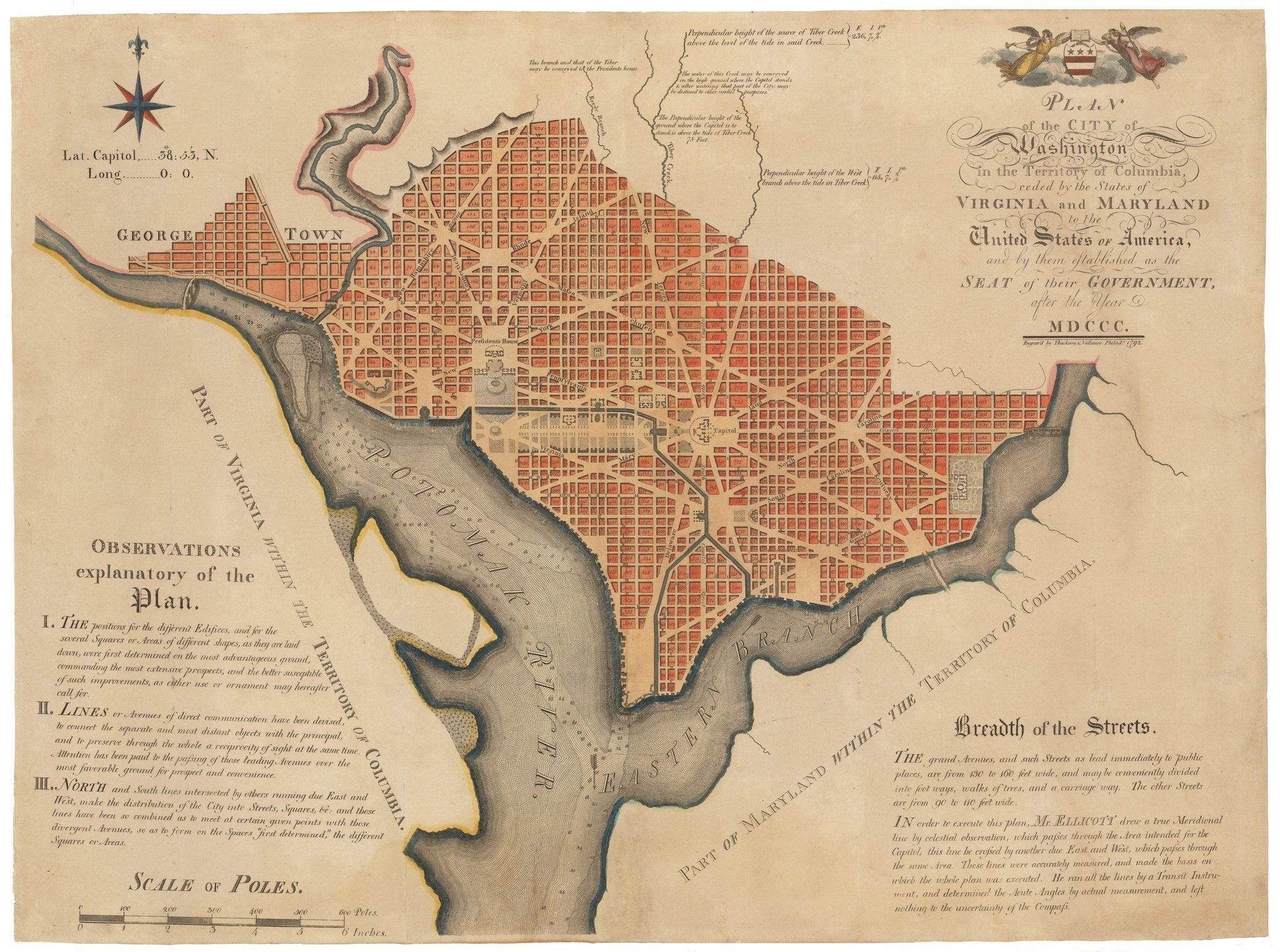 Plan Of The City Of Washington In The Territory Of