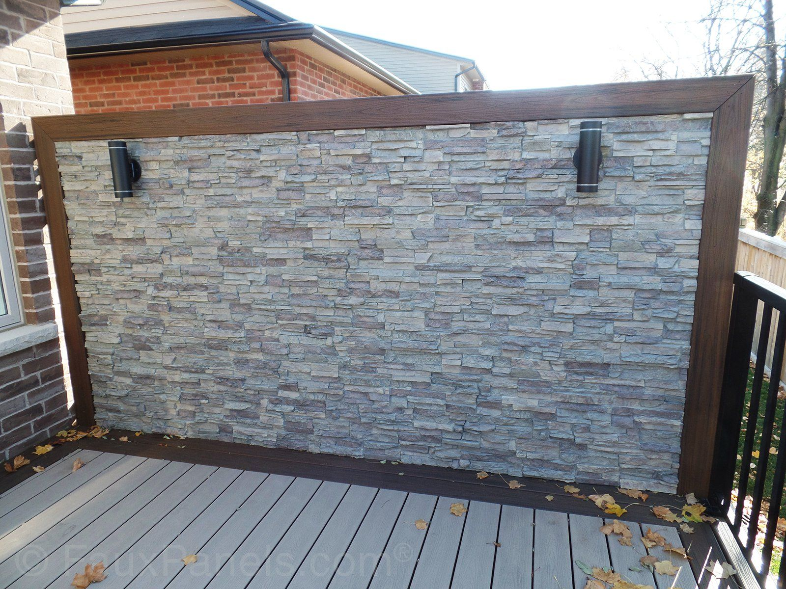Panel Design Ideas In Photos Brick Rock And Stone