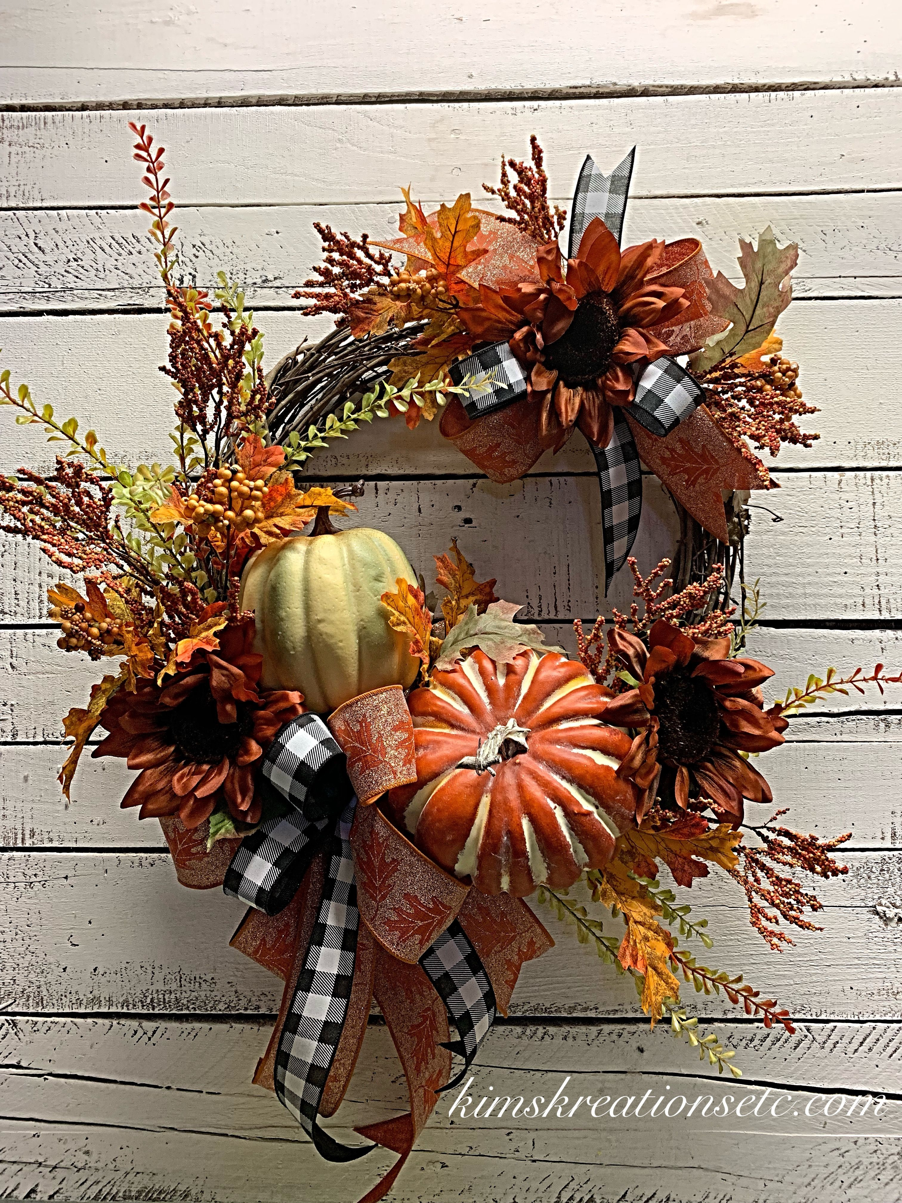 Fall Door Wreath Free Shipping Fall Wreath Fall Pumpkin Wreath Fall Wreath For Front Door Fall Leaves And Pumpkins Autumn Wreath Traditional Fall Door Wr Door Wreaths Fall Wreaths For Sale