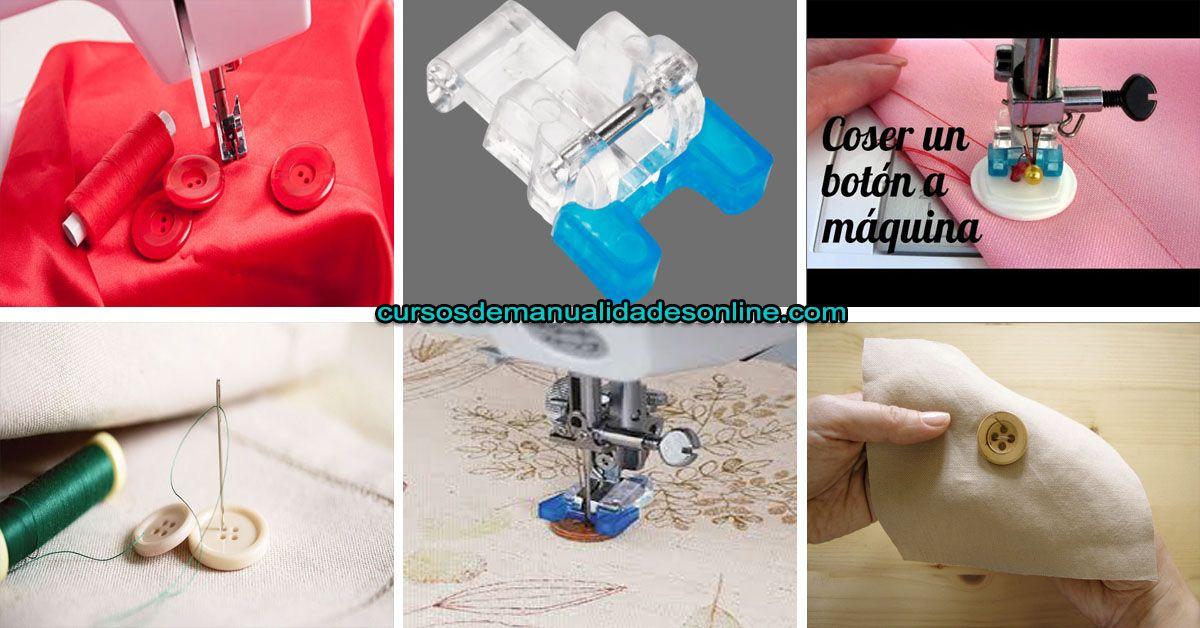 Aprende Como Coser Un Boton Con Diferentes Metodos Maquina Para Tejer Como Coser Coser Botones
