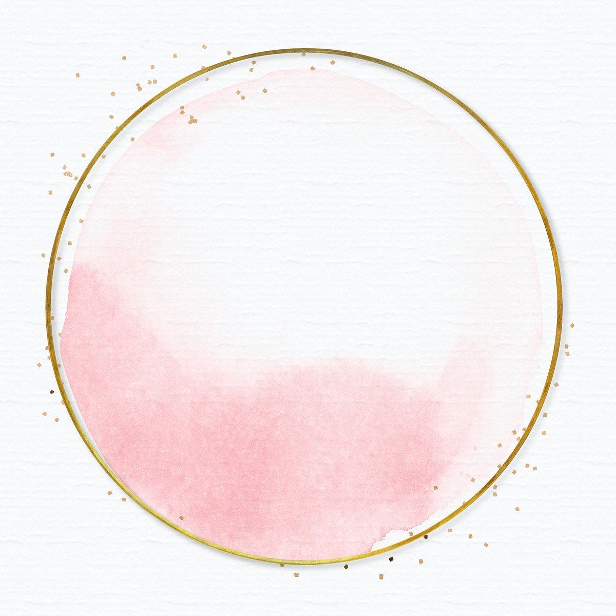 Gold Round Frame On Light Pink Background Free Image By Rawpixel Com Bus Paper Texture Background Design Pink Wallpaper Backgrounds Paper Background Design