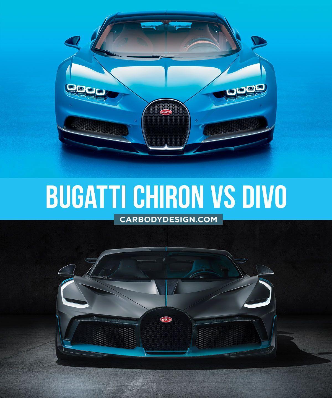 Bugatti Divo Design Comparison With The Chiron Bugatti Design Cardesign Supercar Designsketch Carbodydesig Bugatti Cool Sports Cars Sports Cars Luxury