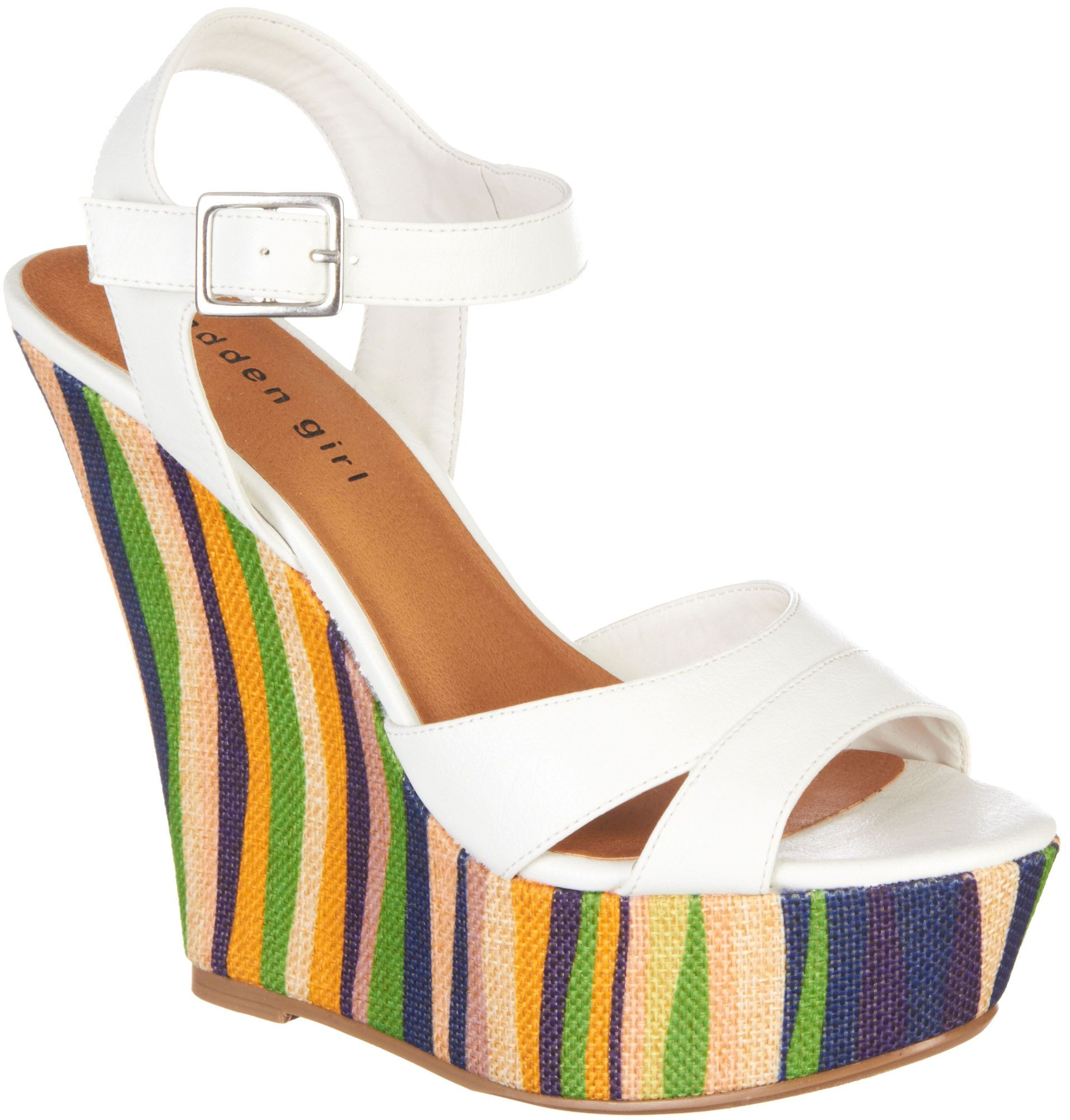 Must Have For Summer Madden Girl Stacked Heel Wedges On 1 1 2 Platform Musthave Buy Shoes Wedges Wedge Heels