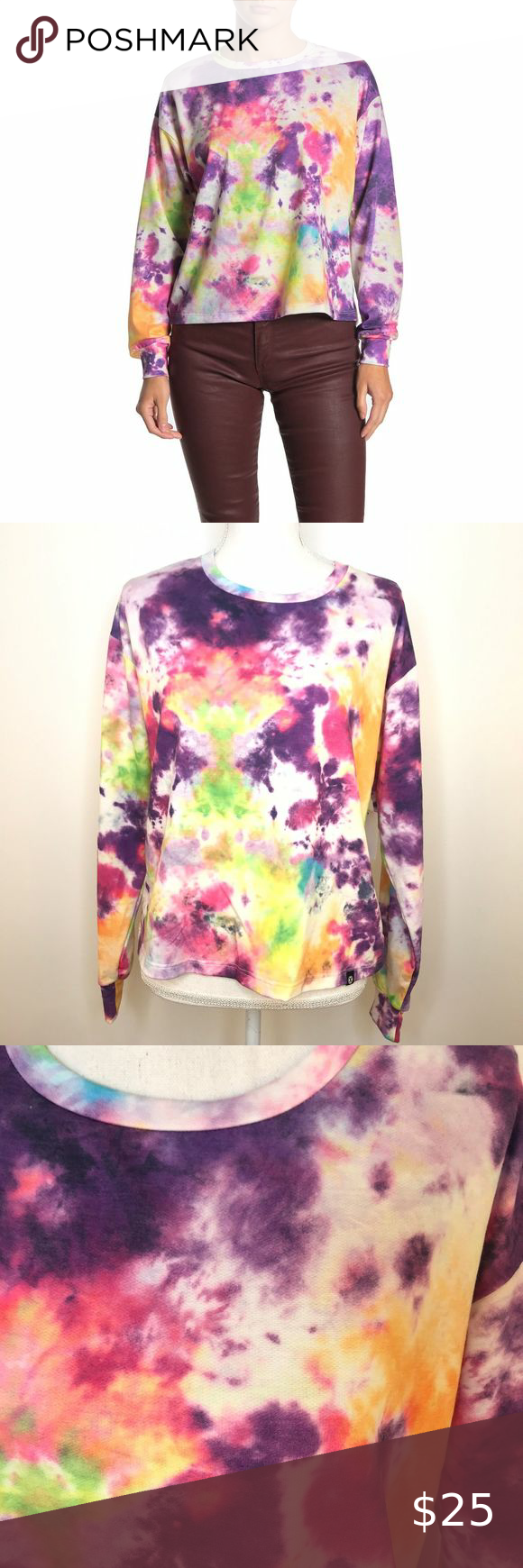 Nwt Circle X Neon Tie Dye Pullover Sweater Xs In 2021 Pullover Sweaters Vintage Crewneck Tie Dye [ 1740 x 580 Pixel ]