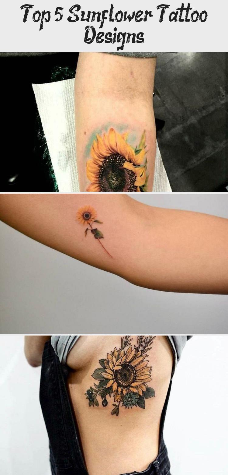 Photo of Top 5 Sunflower Tattoo Designs #Littlesunflowertattoos #sunflowertattoosWithQuot…