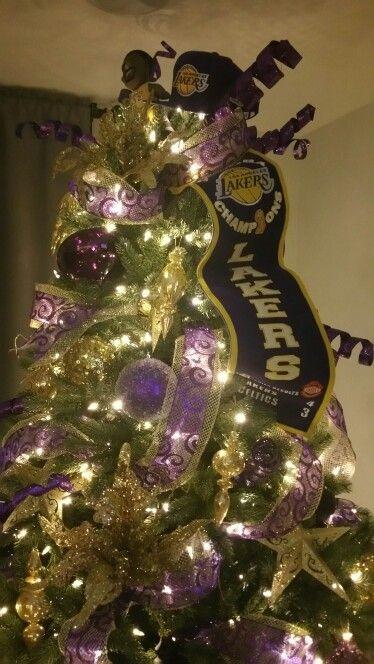 Lakers Christmas Tree Christmas Pinterest Christmas tree