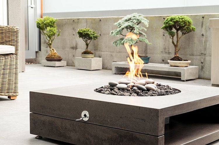 concrete fir feature by landscape furnishings