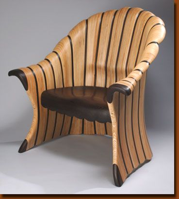 Kerry Vesper | Kaa Chini Chair. Wenge and Baltic Birch