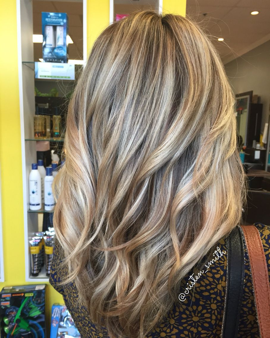 Dimensional pearly blonde Hair styles, Balayage hair
