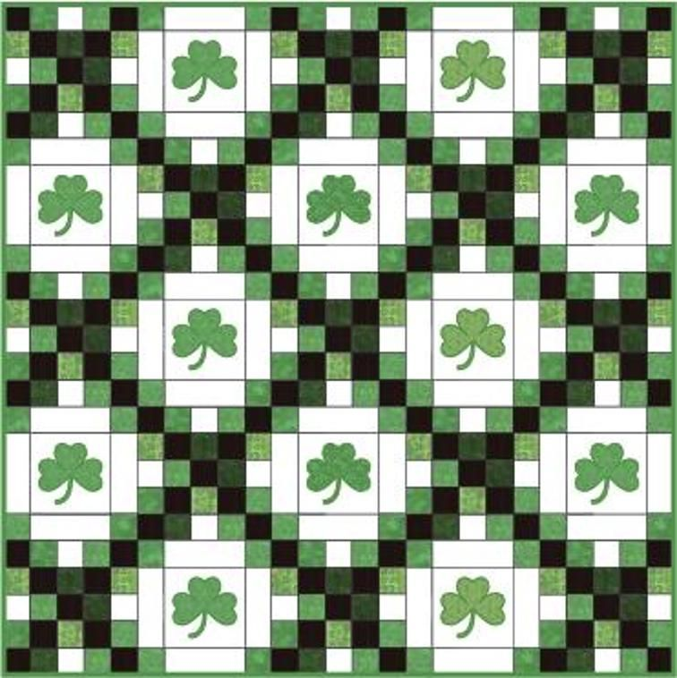 Luck Of The Irish Chain Quilt Double