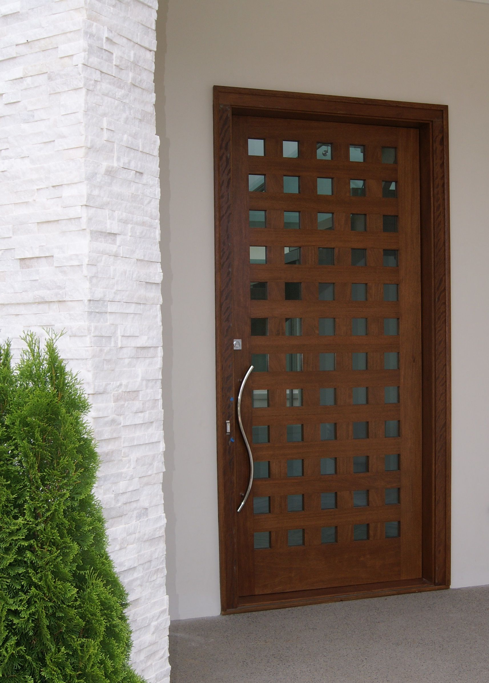 Custom Mahogany Front Entry Door Vision Stairways And Millwork