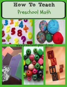 Teaching preschool math is important to plan for.  Math is an integral part of our everyday lives and the best time to start teaching those concepts is as early as possible. Do you know the 13 math process skills that preschoolers develop?  Read about it here at www.preschool-plan-it.com/teaching-preschool-math.html