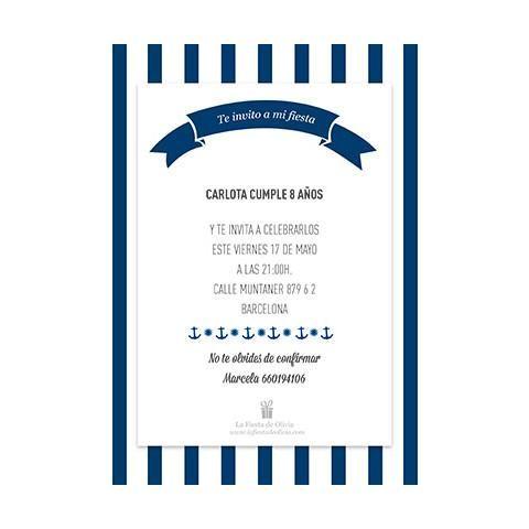 Invitación online gratis personalizada marinero - La Fiesta de