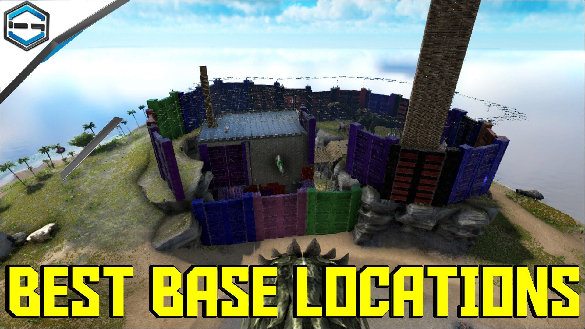 Welcome To Ark Survival Evolved Best Base Locations Here You Will See Me  Show You Some Of The Best Places To Build A Base On The Ark Map.