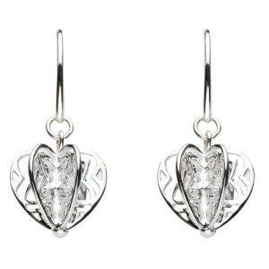 Kit Heath Applique Heart Drop Earrings 60070hp004 Amazon Co Uk Jewellery Heart Drop Earrings Earrings Jewelry