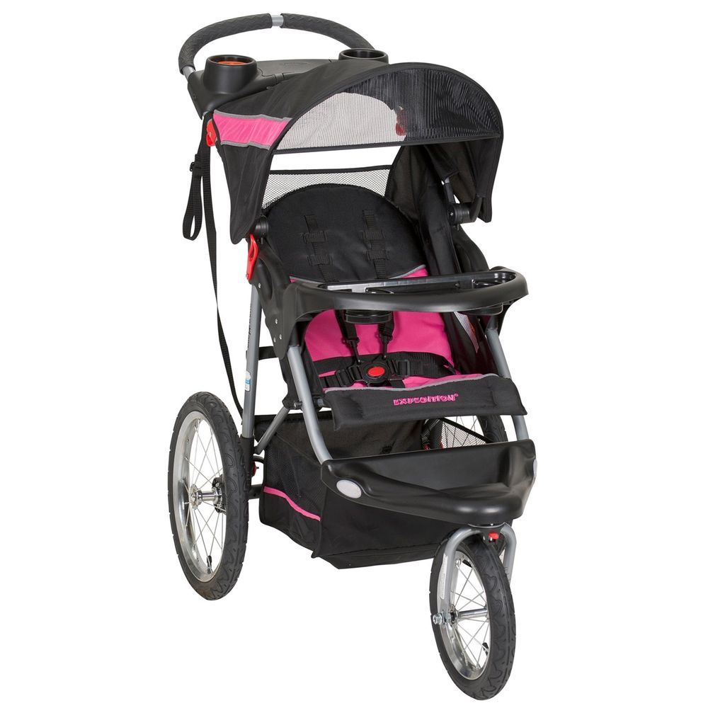 NEW Baby Trend Expedition Jogger Stroller, Bubble Gum
