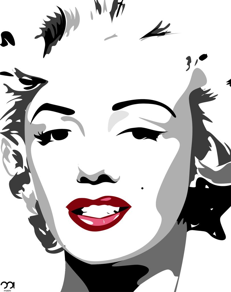 Marilyn Monroe Vector By Matth27 On Deviantart Andy Warhol Pop Art Paintings Marilyn Monroe Pop Art Marilyn Monroe Art
