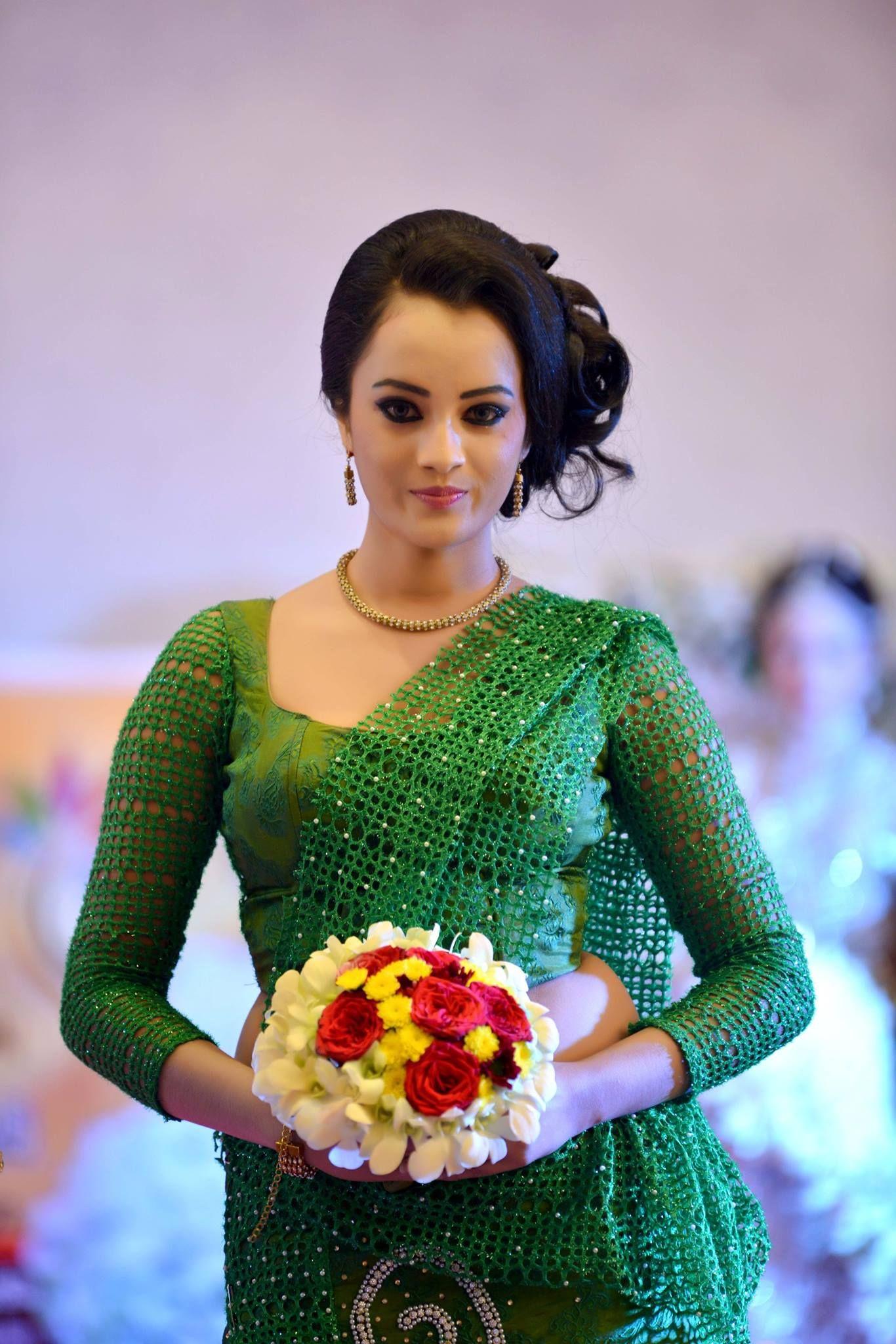 Dressed By Mala Saree & Salon Indu | Sri Lankan Weddings | Pinterest