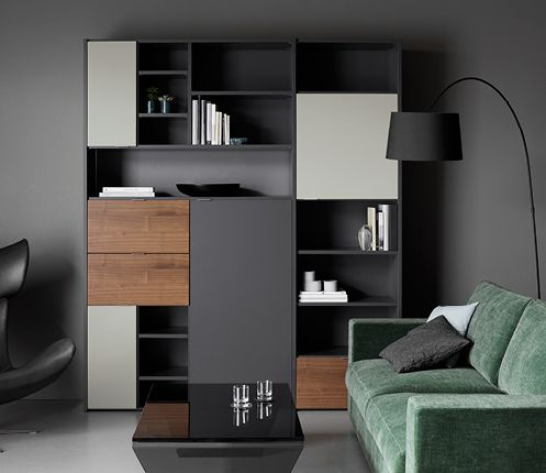 la combinaison murale copenhagen de boconcept. Black Bedroom Furniture Sets. Home Design Ideas
