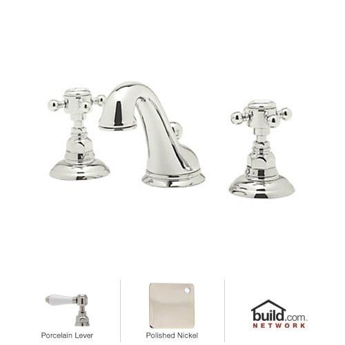 Rohl A1408Lp2 Country Bath Widespread Bathroom Faucet With Popup Best Porcelain Handle Bathroom Faucet Inspiration