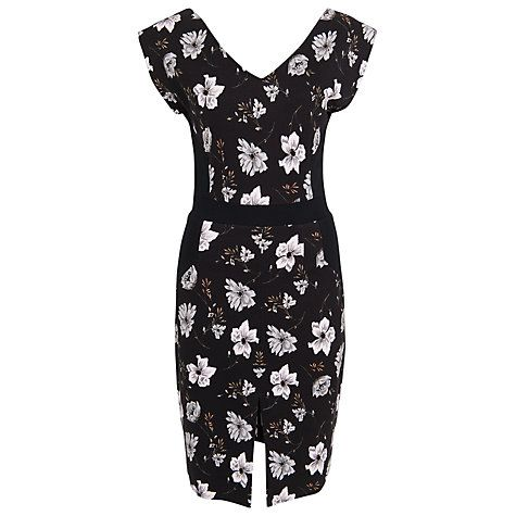 Buy French Connection Blossom Floral Dress, Black/Pink Blossom Combo Online at johnlewis.com