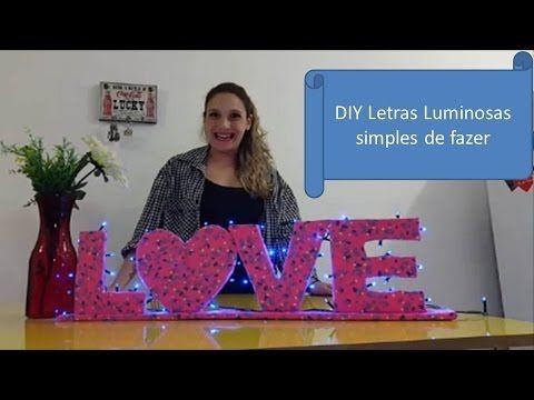DIY Letras Luminosas simples de fazer