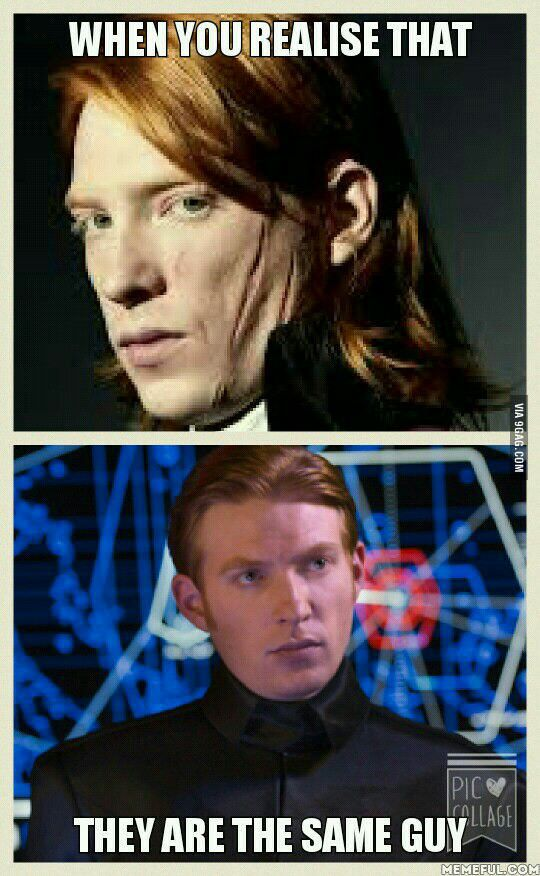 Bill Weasley And General Hux Harry Potter Crossover General Hux Funny Star Wars Memes