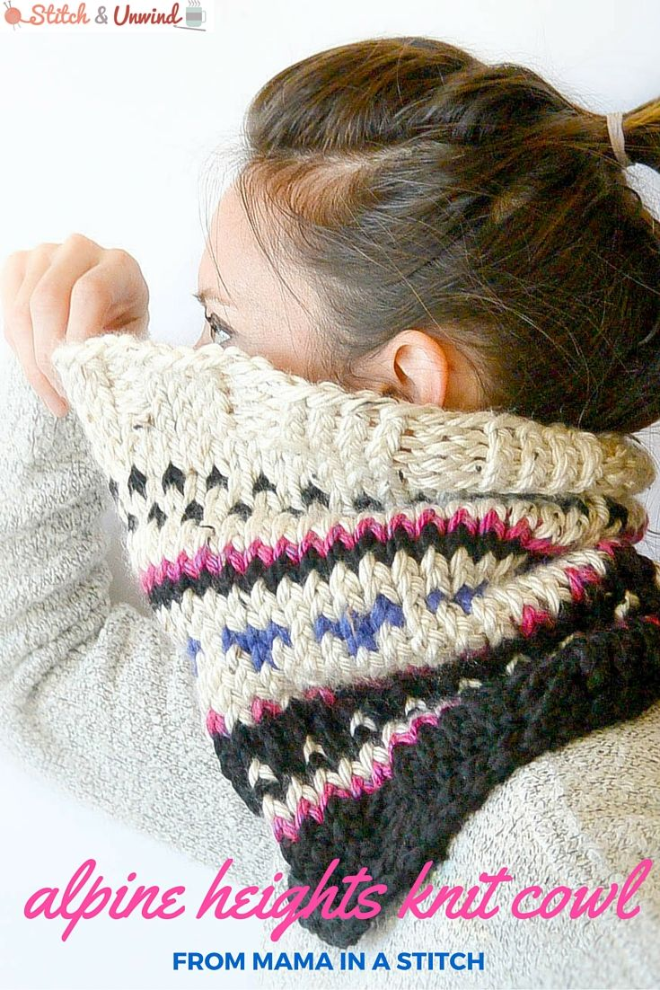 Guest post alpine heights knit cowl by mama in a stitch fair fair isle cowl pattern from mama in a stitch bankloansurffo Gallery