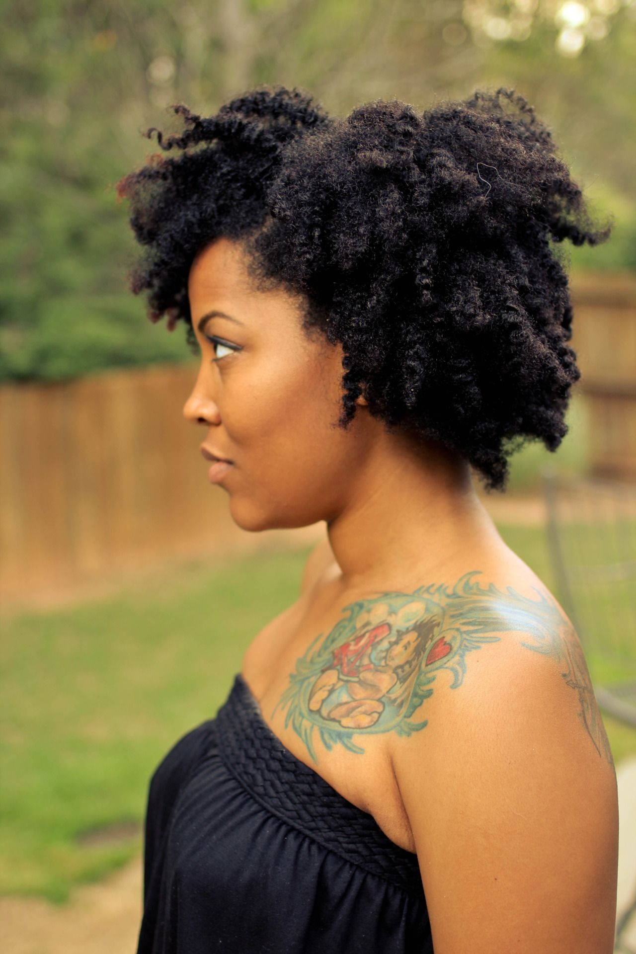 Natural hairstyles for short hair black women hair and tattoos -