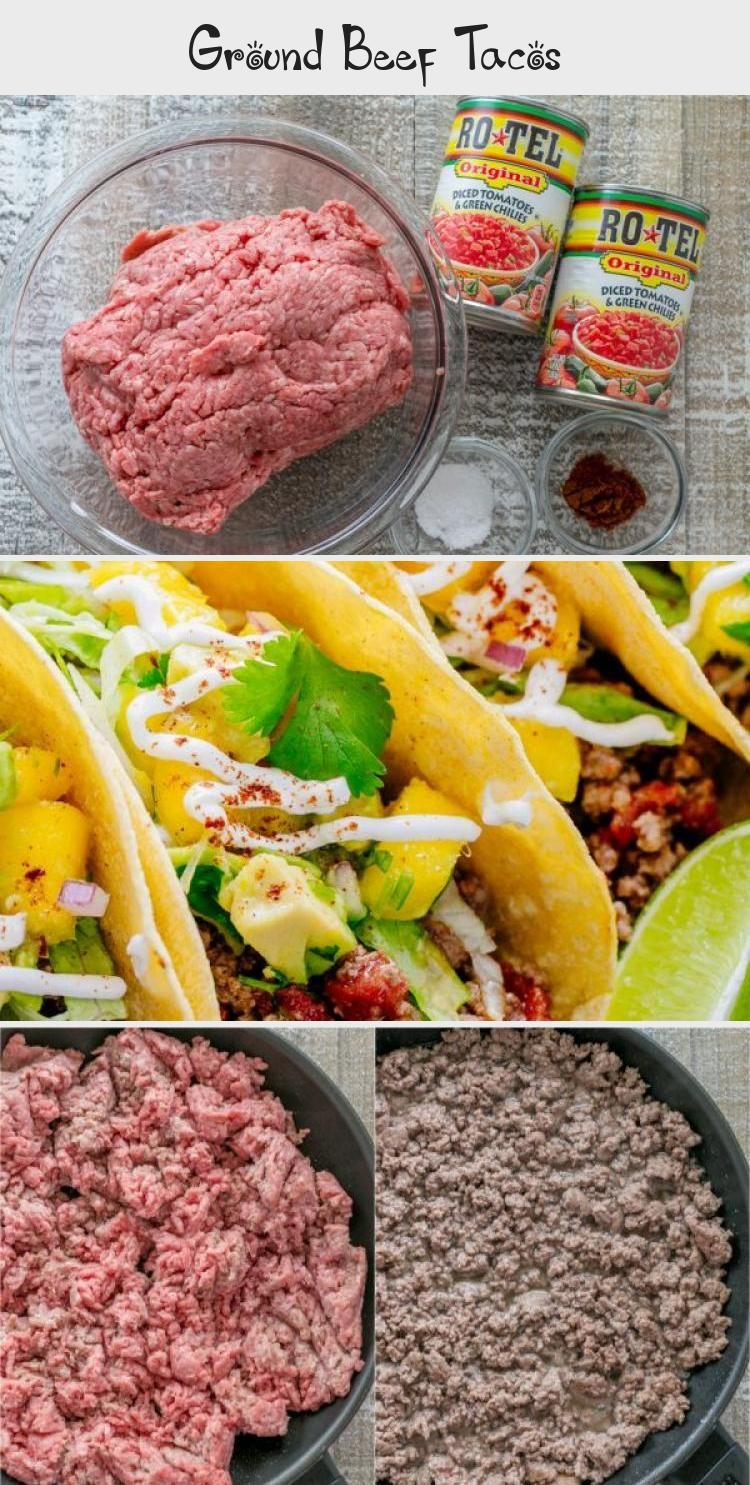 Our go-to Beef Taco Recipe with the juiciest ground beef taco meat. Beef tacos are perfect for easy entertaining or busy weeknights and they always get rave reviews! | #beeftacos #beeftacorecipe #beeftacomeat #groundbeeftacos #howtomaketacos #tacorecipe #tacos #tacotoppings #toppingsfortacos #natashaskitchen #FoodandDrinkMeat #groundbeeftacos