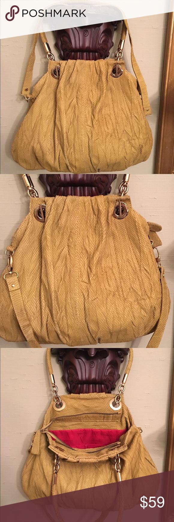 Jenrigo Italian Python Embossed Leather Bag Purse