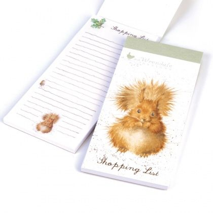 Wrendale Designs Squirrel Magnetic Shopping Pad in the Redhead design ideal to connect to your fridge ready to add those next needed essential items. http://www.a-choice-of-gifts.co.uk/giftshop/prod_3721994-Wrendale-Designs-Squirrel-Magnetic-Shopping-Pad.html