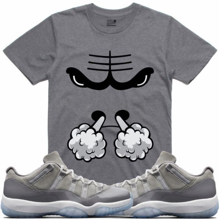 lowest price 45cfc 3dc45 Jordan 11 Low Cool Grey Sneaker Tees Shirt - SMOKIN BULLY RK
