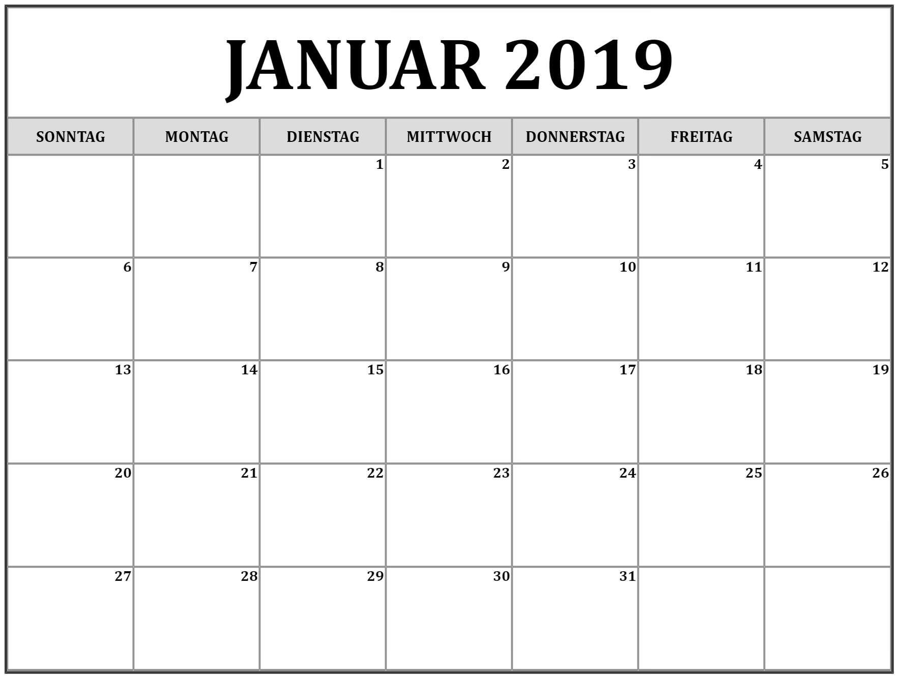 download kalender 2019 word