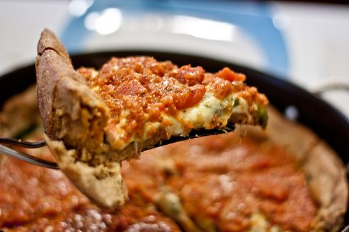 Possibly Healthier Deep Dish Pizza