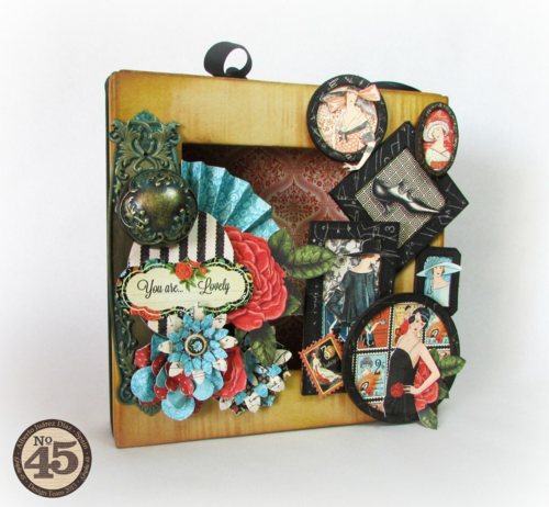 Graphic45-Couture-MatchbookBox-Alberto Juarez-shadowbox, home decor, gift