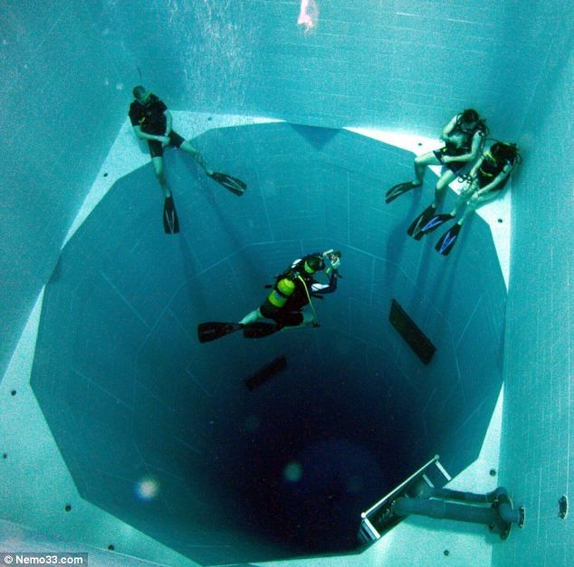 World's Deepest Swimming Pool. It's 113ft Deep And