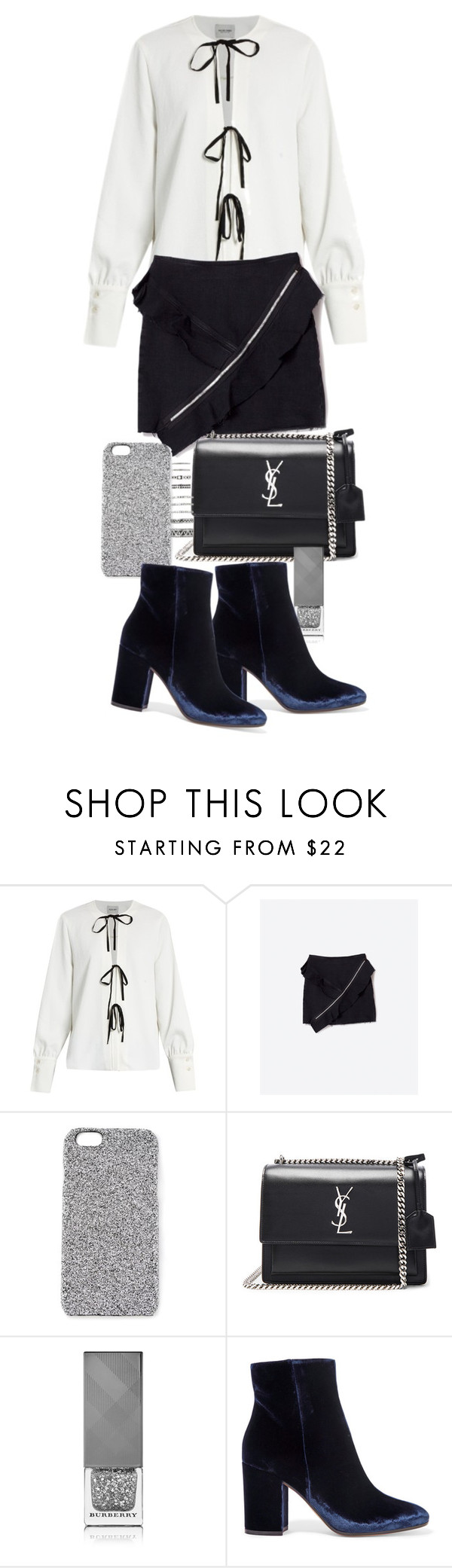 """Untitled #20692"" by florencia95 ❤ liked on Polyvore featuring Rachel Comey, 2Me Style, Yves Saint Laurent, Burberry, Gianvito Rossi and Forever 21"