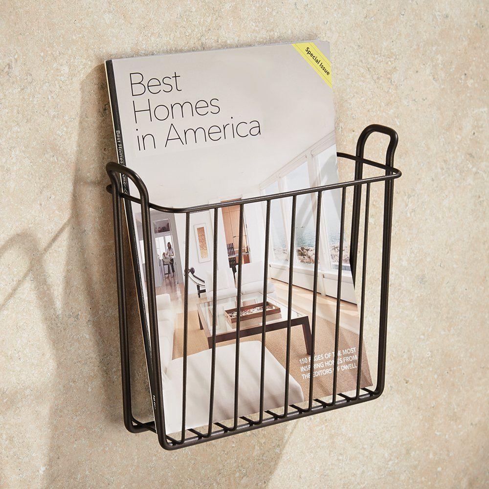 Amazon Com Interdesign Classico Wall Mount Magazine Rack Silver Bathroom Accessory Sets Diy Magazine Holder Magazine Holders Magazine Wall
