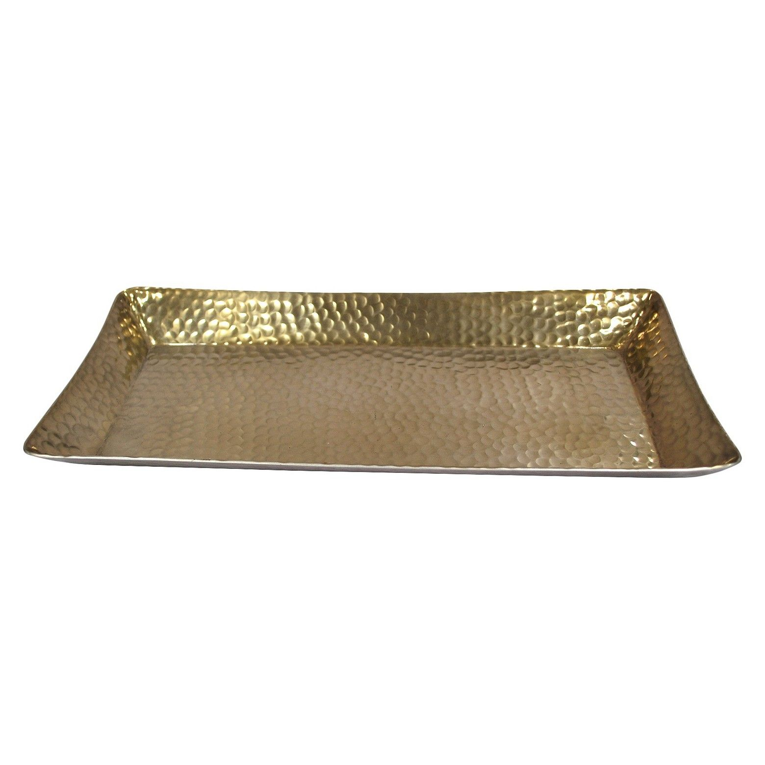 Aluminum Decorative Tray Threshold Metal Hammered Serving Tray  Gold  Trays Ware Fc