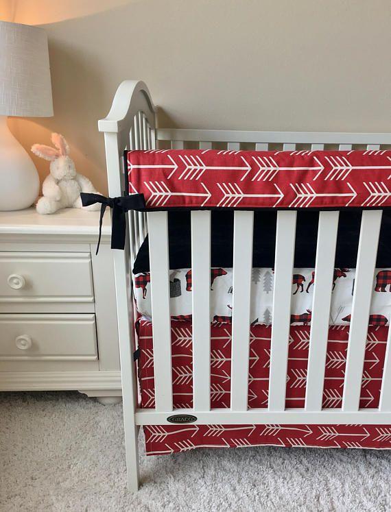 nice Moose Baby Bedding Sets Part - 14: Woodlands Boy Crib Set Bears Lumberjack Moose Baby Bedding