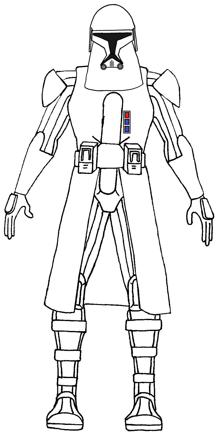 clone trooper snow trooper - Clone Trooper Coloring Pages